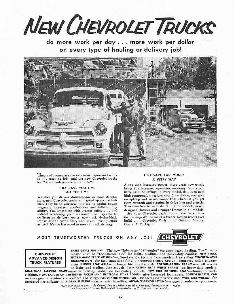 1960 235 261 Engine Manual: 1954 Advance-Design Factoids